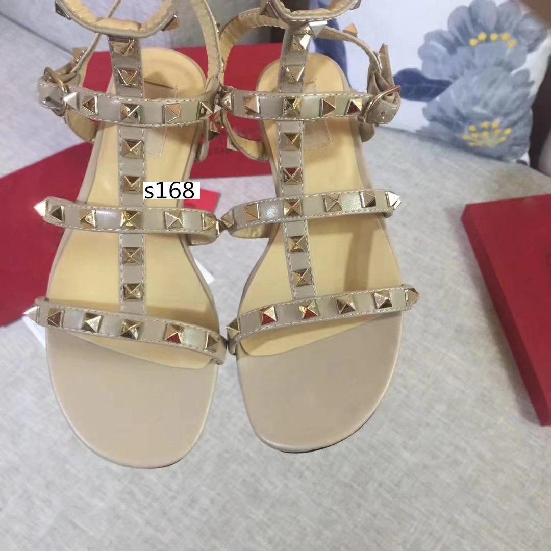 Высокое качество дизайн стиль кожа женщины шпильки сандалии Slingback мода заклепки обувь 6 цветов