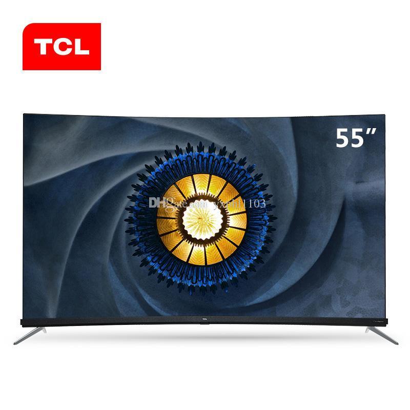 TCL 55 pollici flessibile curvato a pieno schermo scena AI TV 4K + full ecologico trasporto libero HDR TV.