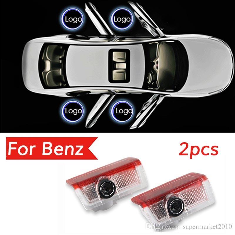 la voiture a conduit Portail automatique pour Mercedes Benz W213 Classe E W212 M W166 ML Laser emblème projecteur fantôme Accessoires Ombre lampe lumières bienvenue lumière