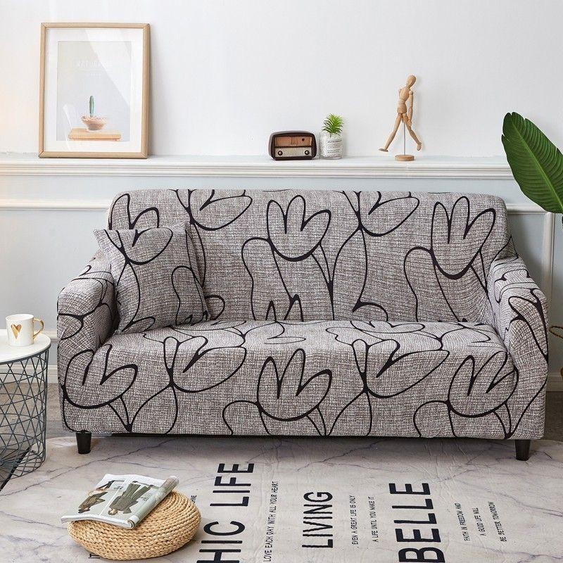 أنيقة الحديثة غطاء أريكة دنة مرونة البوليستر الأزهار 1/2/3/4 مقاعد الأريكة الغلاف الغلاف حامي أثاث غرفة المعيشة