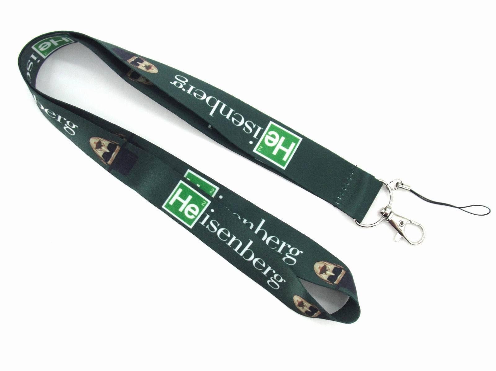 Free Shiping 30pcs Green Heisenberg Badge Lanyard For Keys ID Holders Breaking Bad Mobile Phone Neck Straps