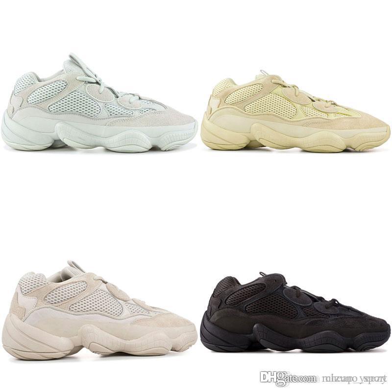 2019 New Fashion Wave Runner 500 Blush Desert Rat Super Moon Zapatillas de deporte amarillas Kanye West Designer Mens Women Sneaker Sports Shoes