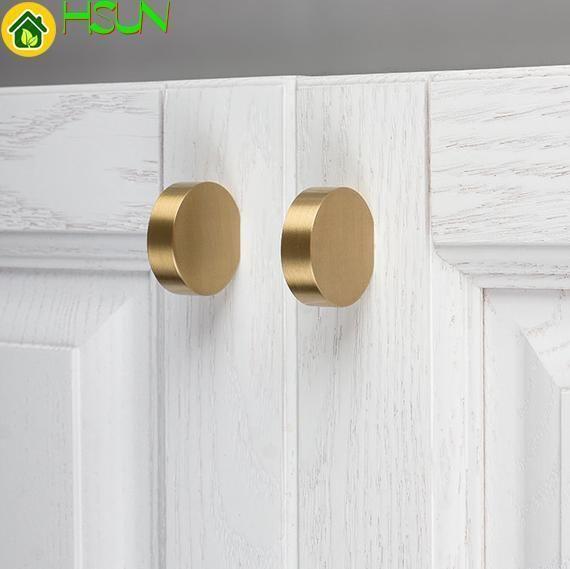 2019 1 1 5 Unique Pure Copper Cabinet Knob Handle Dresser Knobs Gold Brass Drawer Pulls Handles Modern Simple Knob Kitchen Knobs From Jmqj66