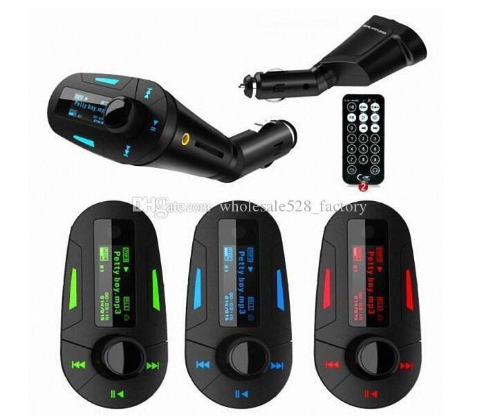 원격 블루 / 차량용 키트 MP3 플레이어 무선 FM 송신기 변조기 무선 USB의 LCD는 빨강 / 녹색 빛 블루투스 차량용 키트 소매 상자