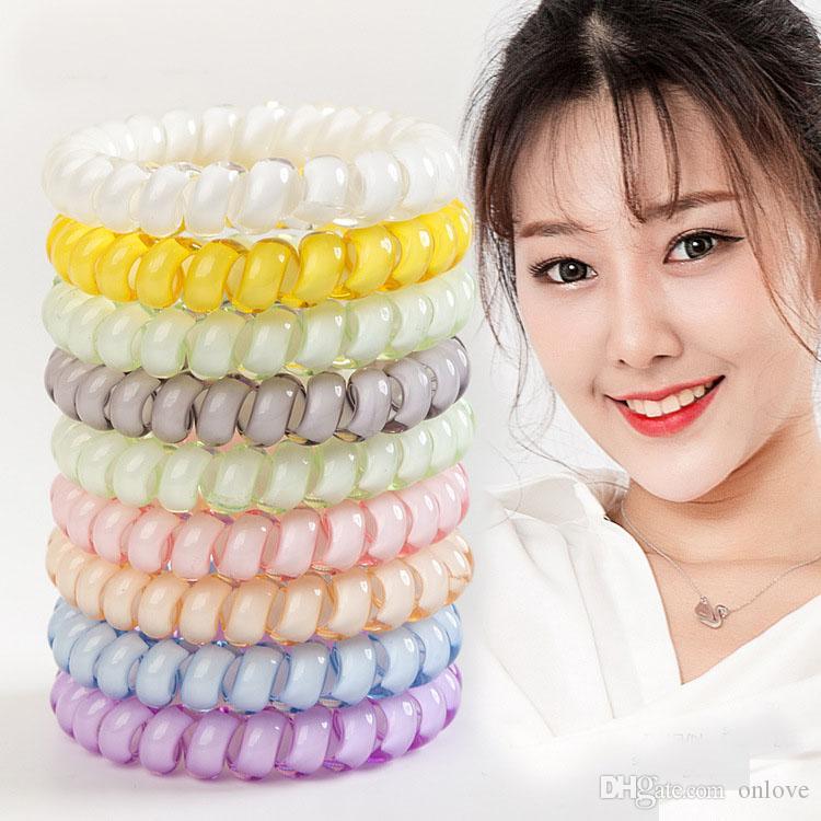Telefon Tel Kordon Cum Saç Tie Kızlar hairband Yüzük Halat Bileklik Saç Aksesuarları 4cm Parti Hediyeler Favor XD21586
