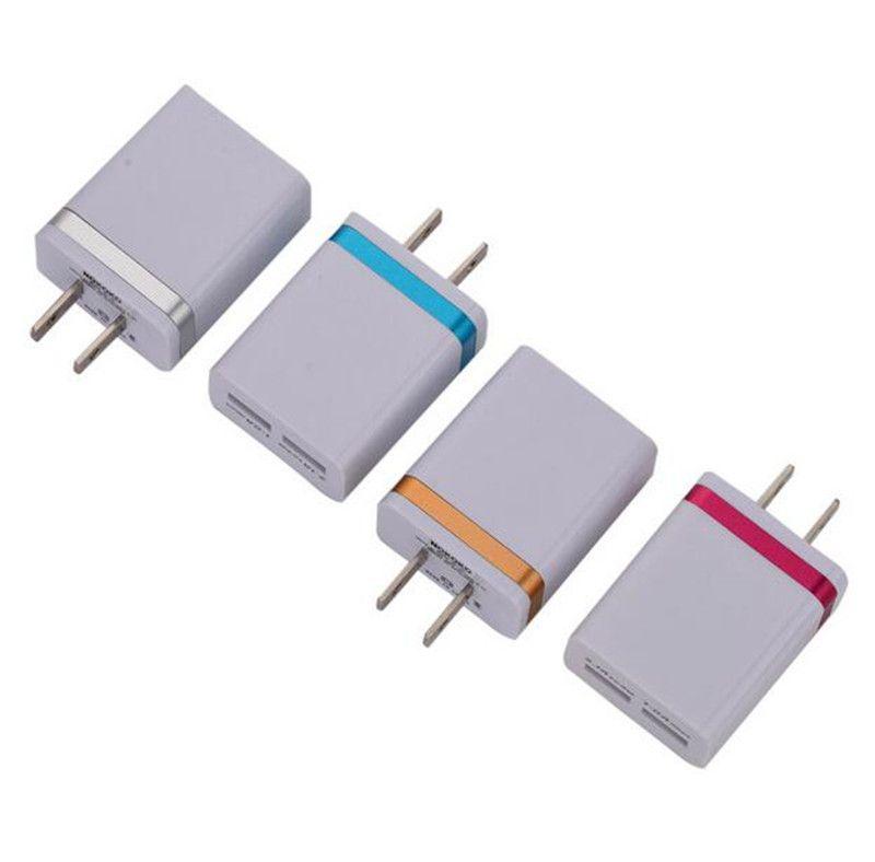 Nokoko 5 В 2.1 + 1A Двойной USB AC Travel US Зарядное устройство Разъем Двойное Зарядное Устройство Для Samsung Galaxy S10 HTC Адаптер Смартфона