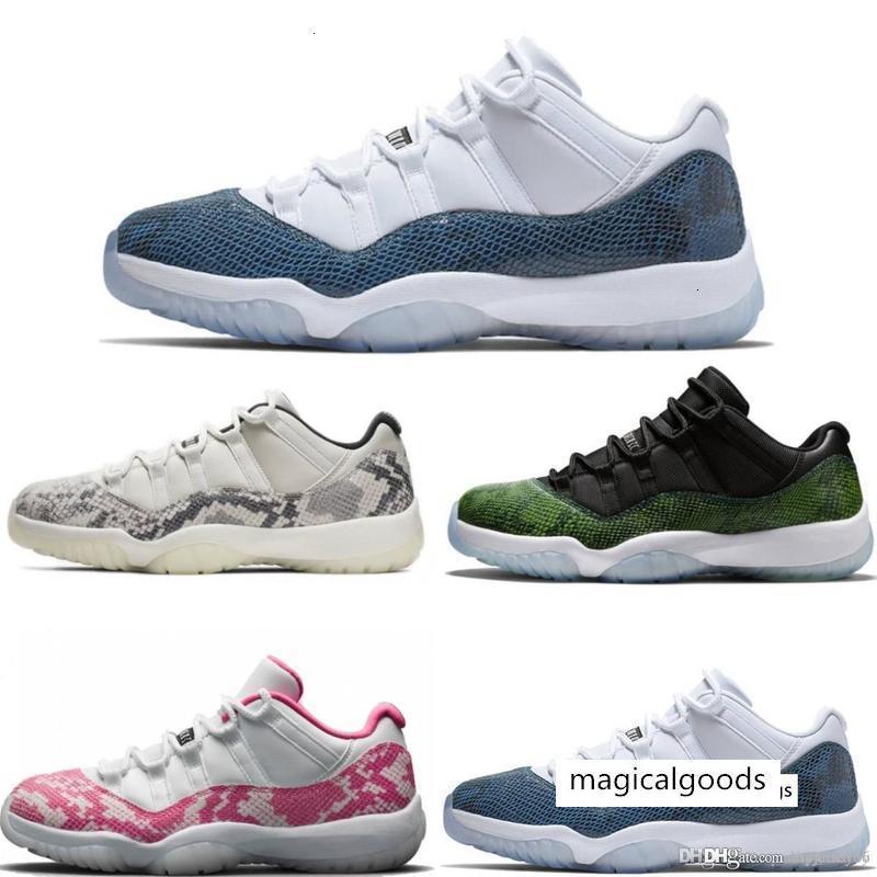 2019 nuovo blu scarpe rosa pelle di serpente di pallacanestro 11 della marina Bred Concord Georgetown Space Jam GG 11s Chaussures de basket con la scatola
