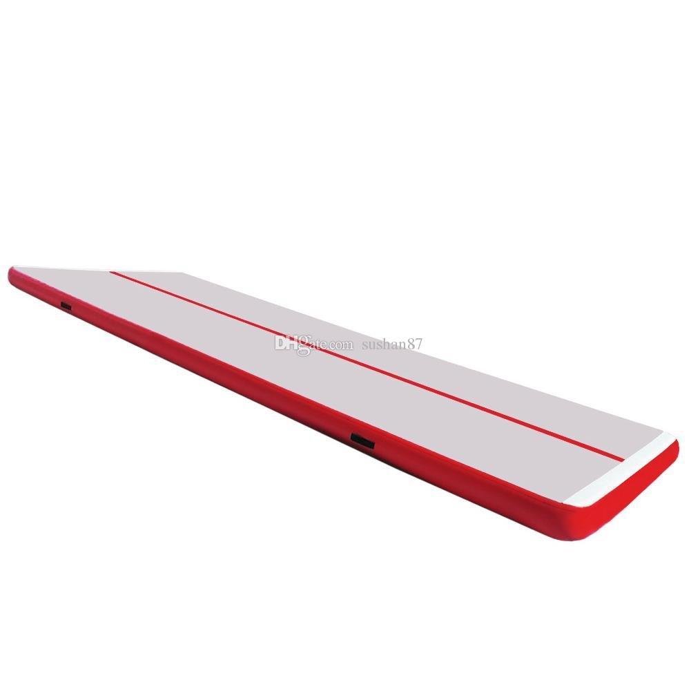 شحن مجاني 6 * 1 * 0.1 متر الجمباز المعدات متعدد الألوان نفخ الهواء tTrack في المنزل نفخ الهواء تعثر المسار ل رياضة