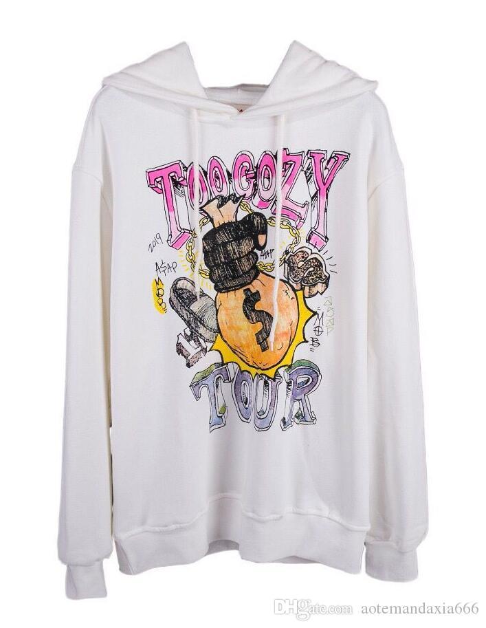 Нового фуфайки TOP Осень Зима Streetwear F Толстовка пуловер Justin Bieber Black толстовка Толстовка S-XL 7506