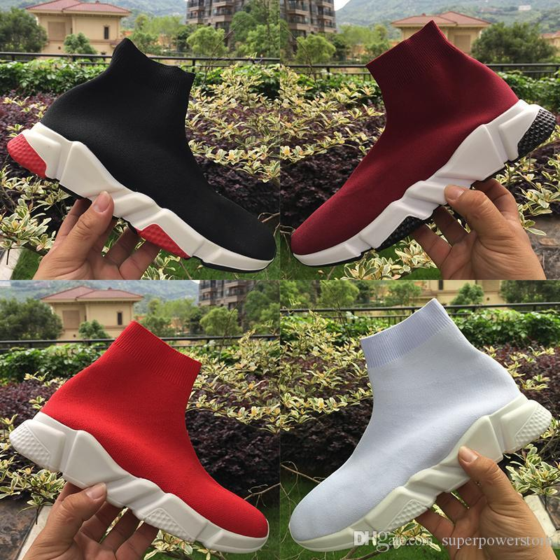 2020 дизайнер мужской обуви скорость тренер тройной черный белый красный чернослива серый царские мужчин вскользь носок обуви женщин моды кроссовки