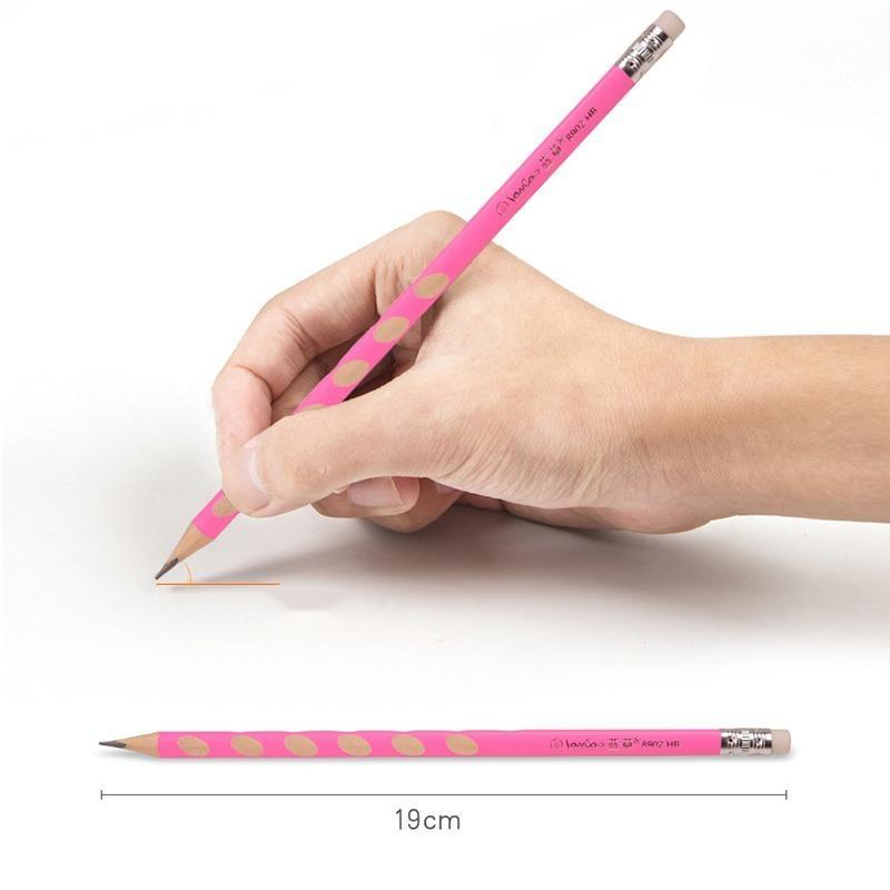 Nueva 12pzas HB Kawaii lápices de madera creativo del lápiz del agujero para los regalos de Niños Material de Oficina Escuela de la novedad de herramientas de corrección