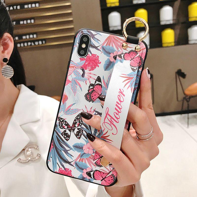 세련된 동적 허리 폰 케이스 iPhone6 6S 7 8Plus X XS MAX XR 케이스 소프트 TPU 도금 라인 석 여성 러브 커버