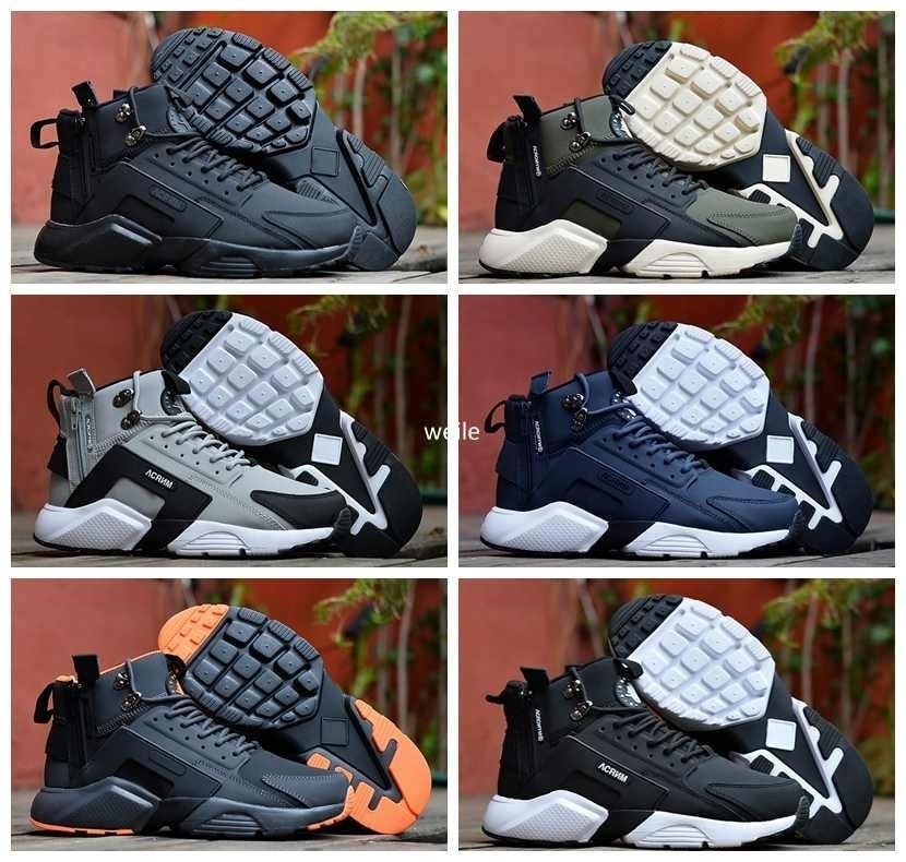 Nouvelle arrivée Air Huarache 6 X Acronyme Ville MID Chaussures de course en cuir pour hommes de haute qualité Huaraches Hommes Huraches sport Chaussures de sport Taille 40-45