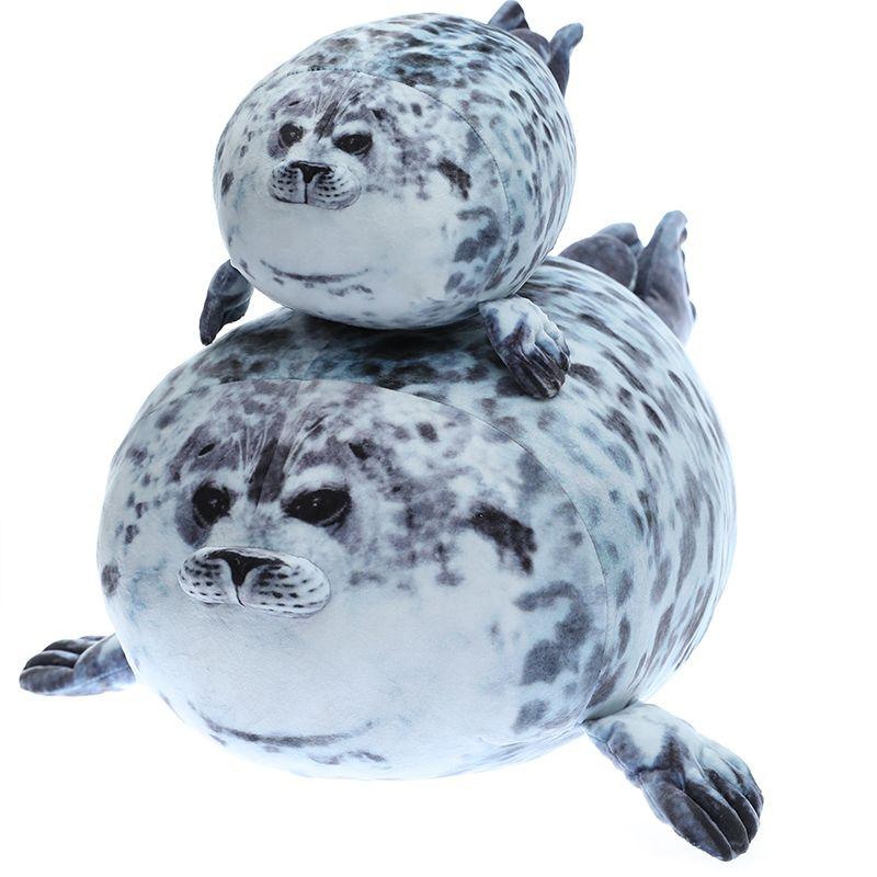 1pc macio 35-60cm macio Sea Lion Plush Toys Mar Seal Animal World Plush Stuffed boneca Dormir presentes almofada meninas miúdos T200619
