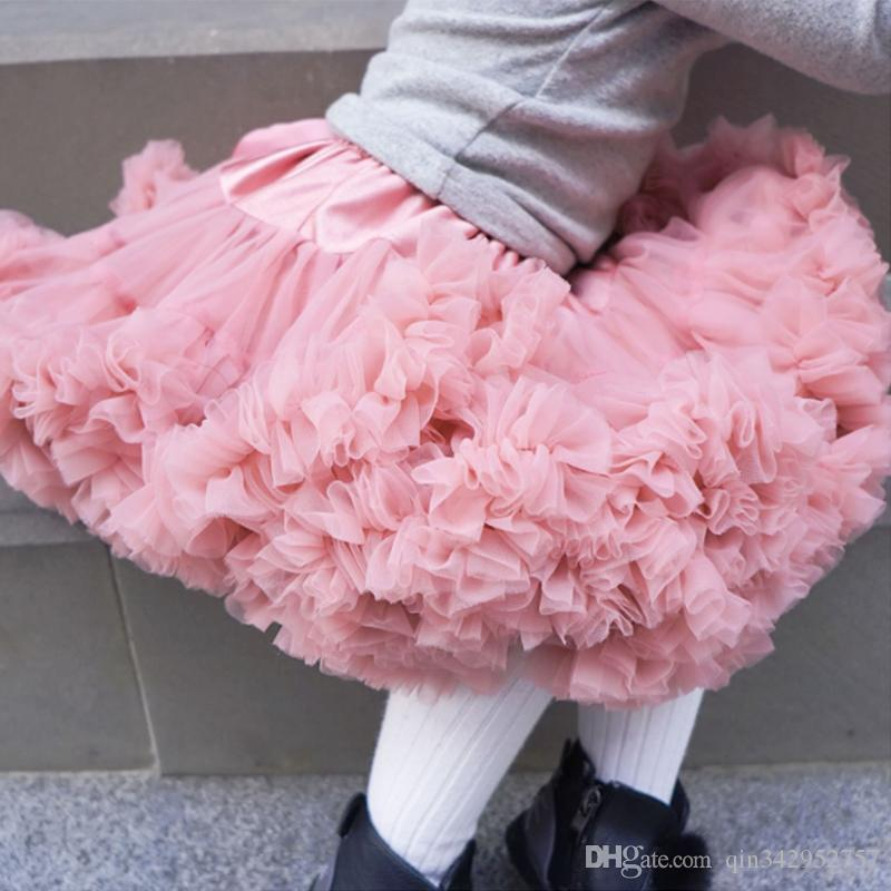 Girls Quality Neon Pink Fluffy Nylon Party Pettiskirt Princess Tutu Skirt UK