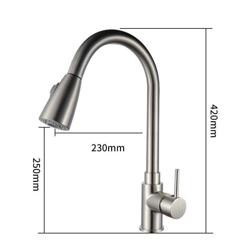 2019 Single Handle High Arc Brushed Nickel Kitchen Faucet, Single Level  Stainless Steel Kitchen Sink Faucets With Pull Down Sprayer From Linita,  $87.3 ...