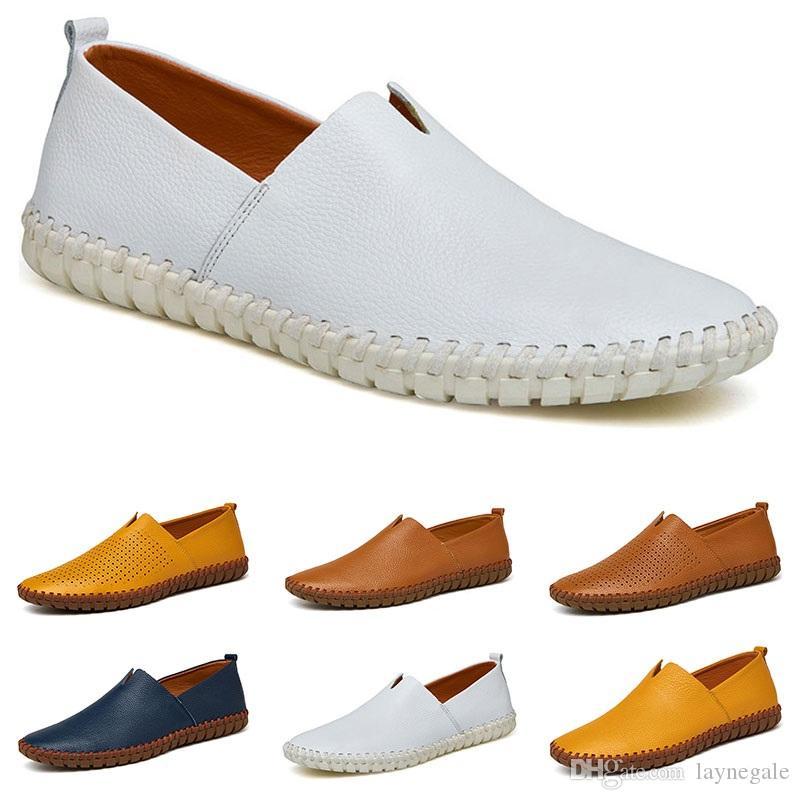 Il nuovo arrivel 38-50 nuovi pattini overshoes uomini di cuoio degli uomini di colori caramella britannico scarpe casual trasporto libero Espadrillas quarantadue