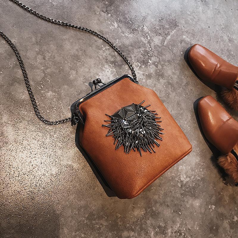Nova moda cadeia de inclinação único ombro versão coreana de Tassel shell bag casual saco de vendas diretas da fábrica