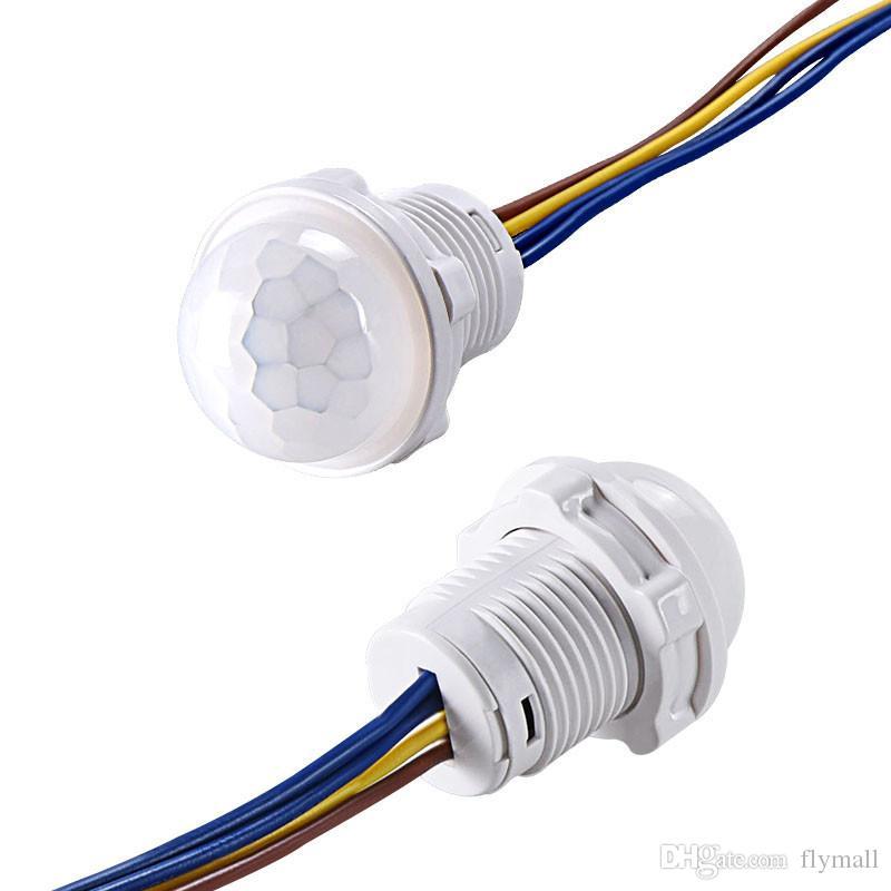 Mini Dolap PIR Sensörü Dedektörü Akıllı Anahtarı 110 V 220 V LED PIR Kızılötesi Hareket Sensörü Algılama Otomatik Sensör Işık Anahtarı