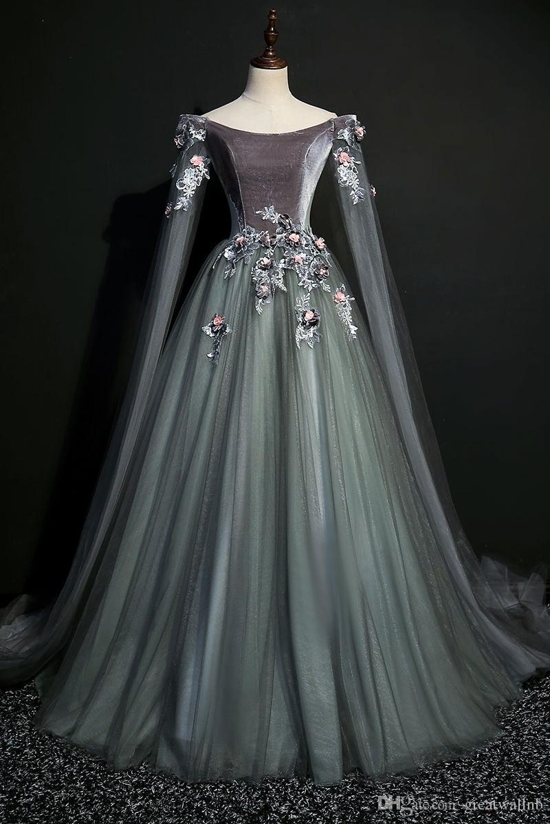 großhandel luxus krönungspfad Ärmel schleier samt ballkleid  mittelalterkleid prinzessin mittelalter renaissance kleid königin cosplay  victoria kleid