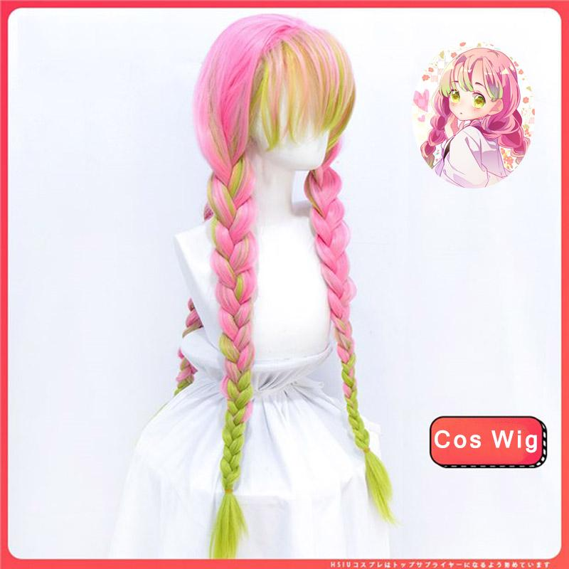 Difei Demon Slayer Kanroji Mitsuri Long Braid Cosplay Wigs With Bangs Light Green Pink Anime Synthetic Wigs Easy Matching Wig Best Wigs Lace Front From Ladylove 31 62 Dhgate Com Blade burst kimetsu no yaiba wig cute short wig cosplay demon slayer mitsuri cosplay edward elric cosplay hawk 1920 wig assassination. difei demon slayer kanroji mitsuri long