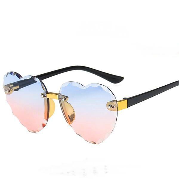 {Made in China} Nouveau style de lunettes garçons et filles Mode Amour forme sunglass 6color Lunettes Lunettes de soleil Livraison gratuite.