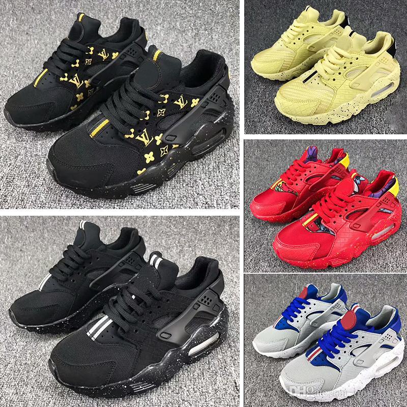Nike air huarache Nuevos zapatos para correr Huarache para niñas y niños Moda Cómodos de goma Transpirable Baloncesto atlético Zapatos populares