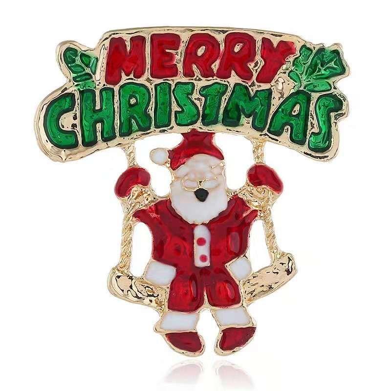 남성 여성용 메리 크리스마스 브로치 핀 산타 클로스 브로치 크리스마스 선물 핀 쥬얼리 무료 배송