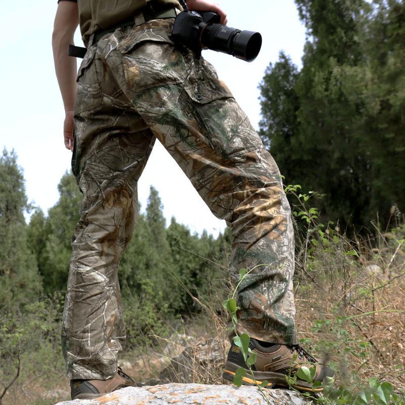 caça homens camuflagem verão ao ar livre roupas biônico roupas táticas outdoor pesca caminhadas na selva caça longa calças dos homens