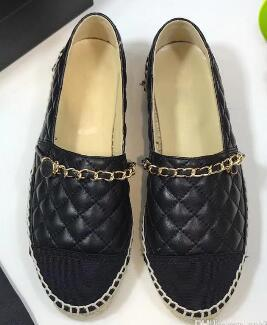 Hot Sale-leather Flat Platform Shoes Espadrilles Loafers Pearl Beading Slip-On Moccasins Casual Soft Sheepskin Flats,35-42