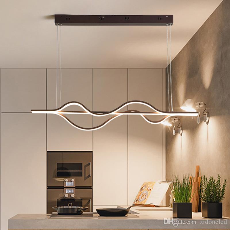 Fine Caffè lampada a sospensione moderna Minimalista Led in alluminio luce del pendente per il salone sala da pranzo cucina