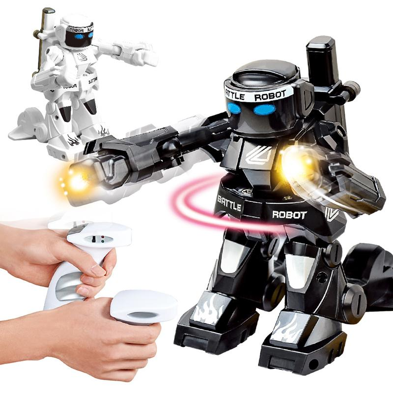 RC intelligent 2 4G Body Sense Battle telecomando robot combat Toys For Kids Gift Toy With Box Light And Sound Boxer MX200414