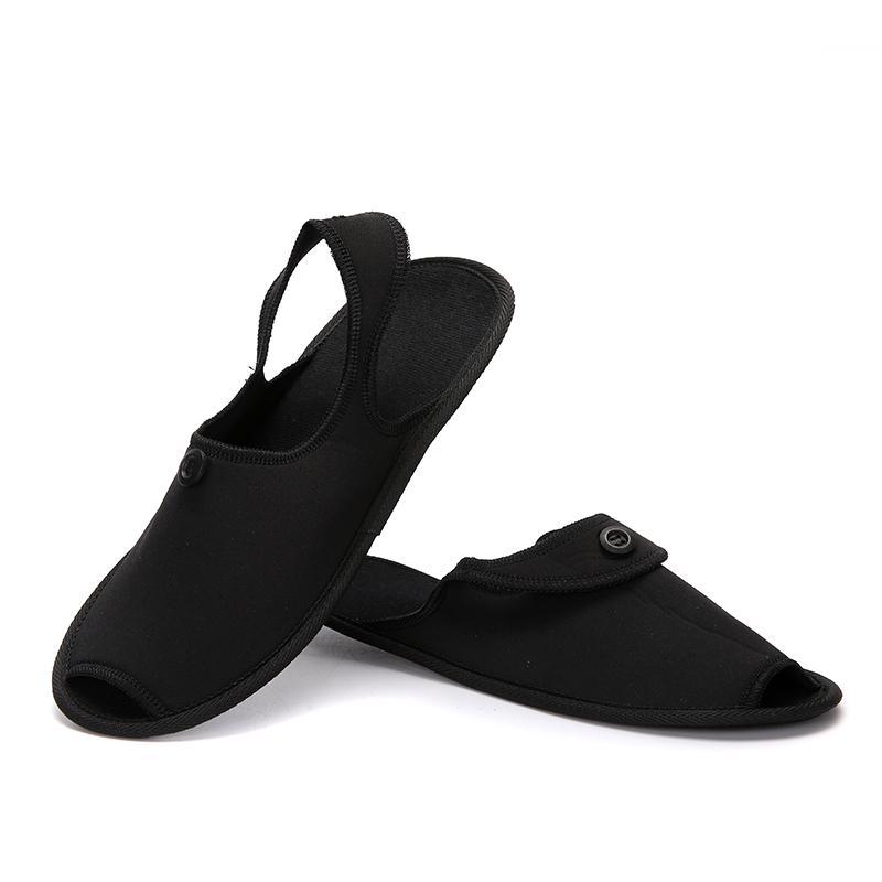 Scarpe Uomo Viaggi traspirante Indoor pantofole pattini delle coppie Business Trip pieghevole Muli leggermente antiscivolo Fashion Hotel