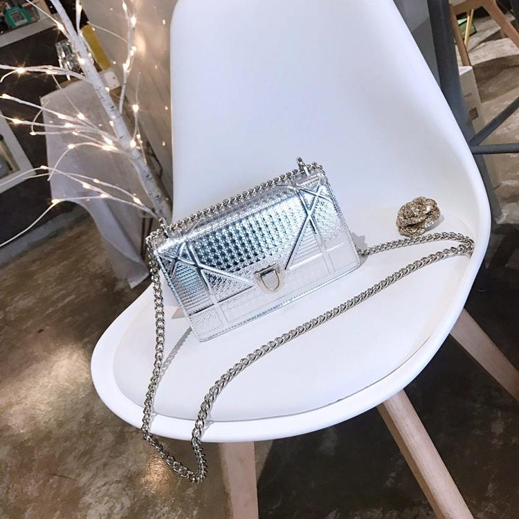 borse borsa di lusso signore di alta qualità della catena della spalla Bag Patent Leather diamante borse di lusso di sera croce corpo Bag