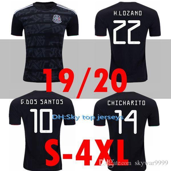 الجديد كبيرة الحجم XXL 3XL 4XL المكسيك 2019 2020 H.LOZANO H.HERRERA R.MARQUEZ تشيتشاريتو A.GUARDADO RAUL كرة القدم جيرسي 19 قميص 20 لكرة القدم
