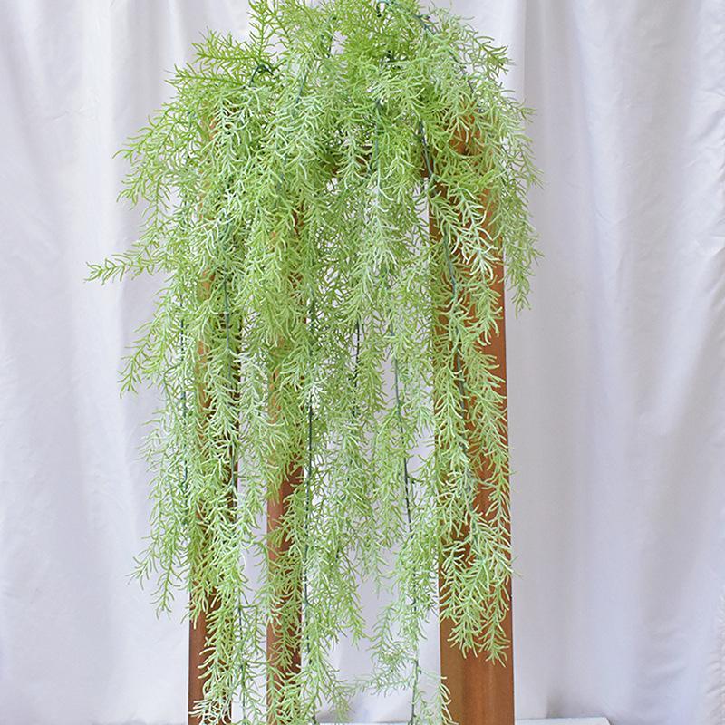 Artificielle pin aiguille plantes suspendues faux plastique air herbe rotin accueil hôtel mariage décoration