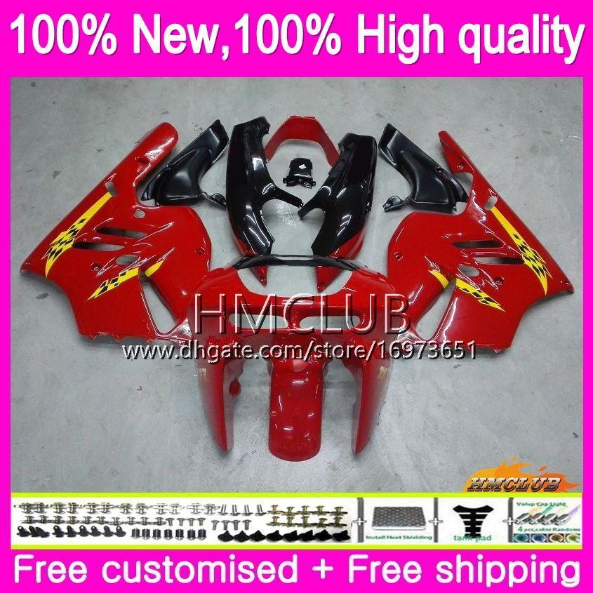 Body For KAWASAKI ZX 9R ZX900 CC ZX-9R 94 95 96 97 Kit 69HM.14 ZX900CC ZX 9 R 94 97 900CC ZX9R 1994 1995 1996 1997 Full Glossy red Fairing