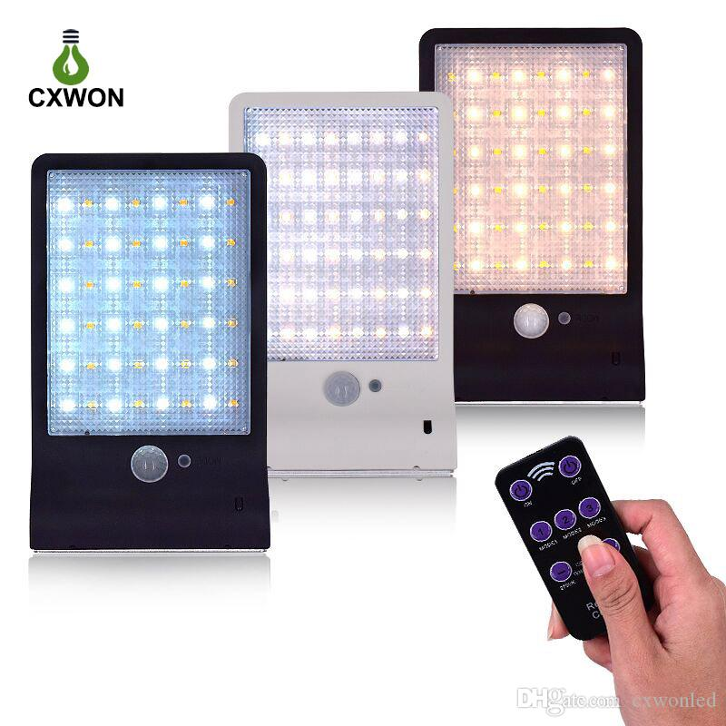48 LED Solar Lights Outdoor Super Bright Motion Sensor Lights Wireless Waterproof Security Lights with Remote Control 3 Modes for Garden