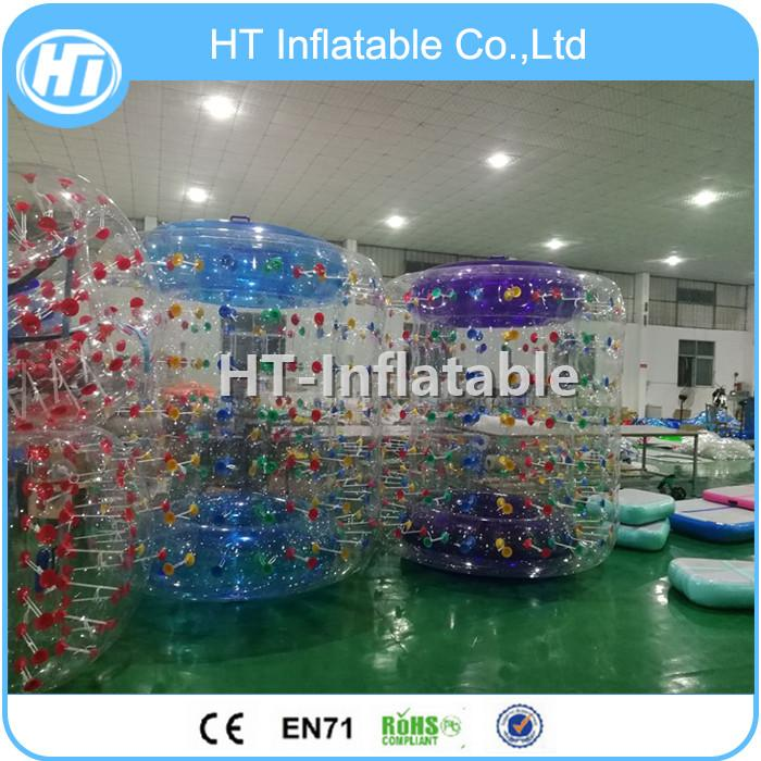 Free Shipping Outdoor Playing Toys Human Cylinder Ball Inflatable Water Roller for Fun Inflatable Water Walking Wheel For Sale
