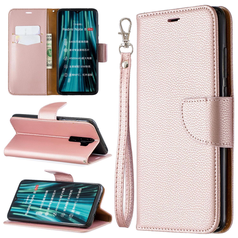Откидная крышка Подставка Wallet для Xiaomi реого Примечания 8 / реое Примечание еТ / реого Примечание 8 Pro Ca личи шаблон PU кожаного чехол для мобильного телефона