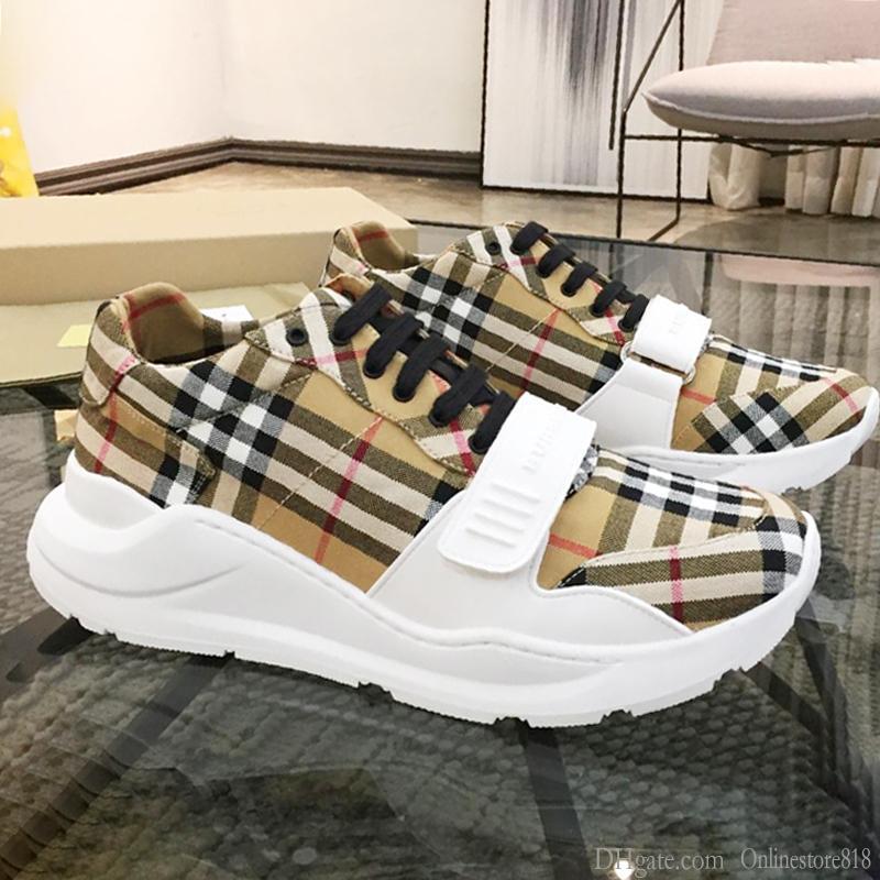 Para hombre de las zapatillas de deporte de la moda de gran tamaño respirable Deportes Herren Sportschuhe vendimia Compruebe algodón para hombre de la zapatilla de deporte de lujo Casual Zapatos hombre