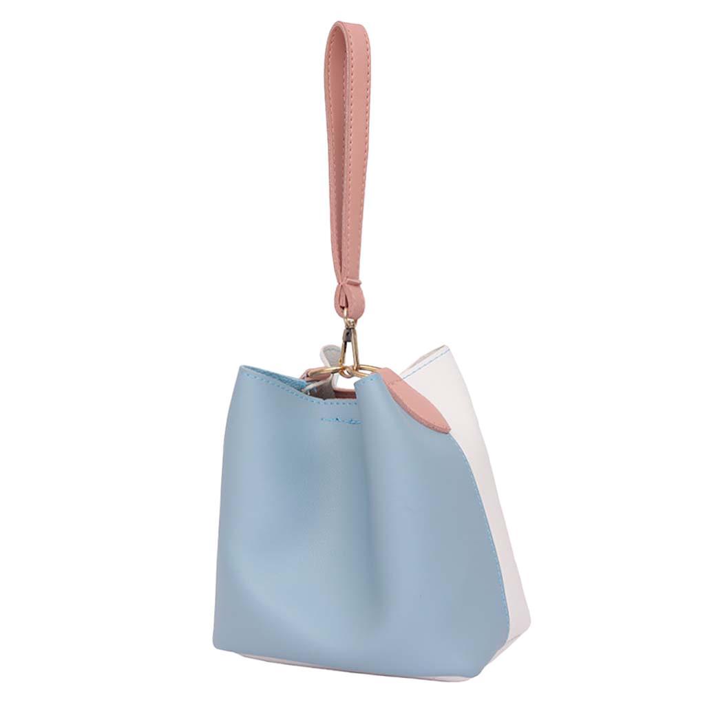 Designer-New Elegant Shoulder Bag Women Wild Simple Messenger Bag For Girls Fashion Color Bucket Large Capacity Handbag Casual K619