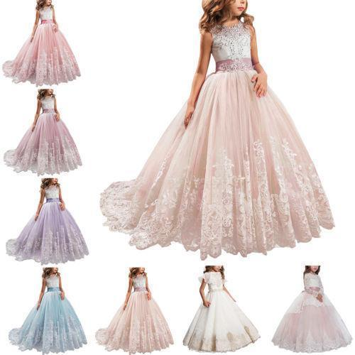 83e0adfa3f470 Satın Al Çiçek Kız Çocuklar Için Prenses Bebek Elbise Dantel Firar Elbisesi  Parti Nedime Küçük Kız Çocuk Giyim Resmi Düğün Için Özel, $62.32    DHgate.Com'da