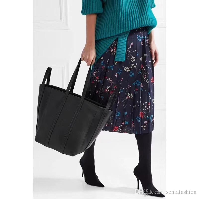 2018 nouveau souper cuir sac femmes de mode chaud véritable peau de vache étoiles mêmes femmes de style grand sac fourre-tout Livraison gratuite