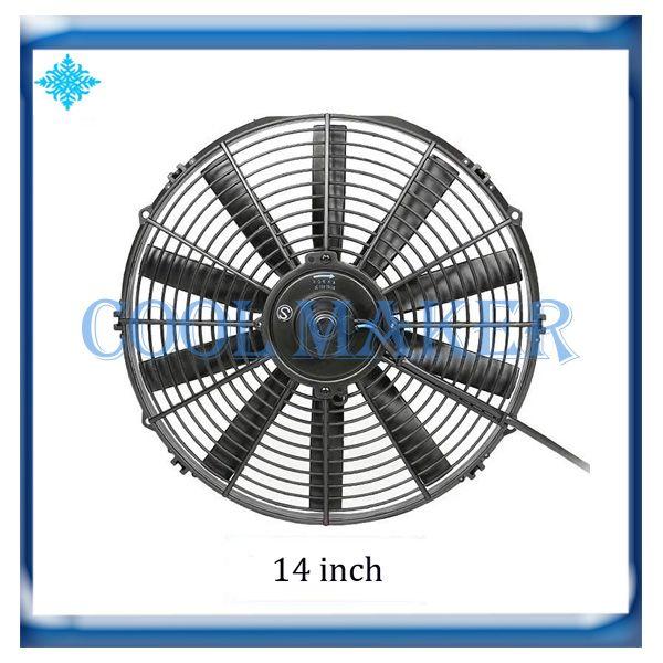 Otomatik klima evrensel kondenser soğutma motoru fanı 14 inç 14 ''