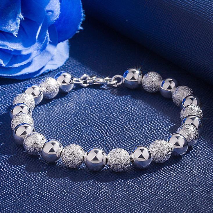 Bracciale Europa e in America la vendita calda d'argento braccialetto placcato 8M Sand Beads