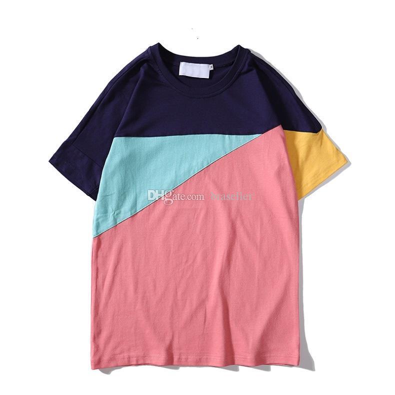 Marca Diseñador Camisetas para hombre de tapas de la manera palacios letra impresa la camiseta para hombre de la ropa del verano de manga corta camiseta de algodón para mujer camisetas