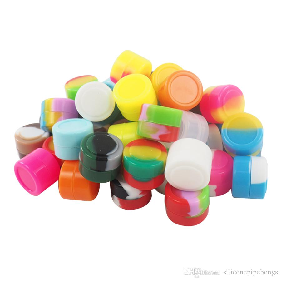 ¡ENVÍO GRATIS! 100pcs / lote 2ml multi colores de silicona de silicona aceite de silicona recipientes de silicona para color de mezcla de cera