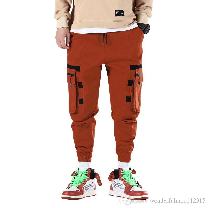 Men Cargo Pants 2019 Fashion Mens Japanese Streetwear Trousers Male Korean Fashions Pocket Hip Hop Sweatpants