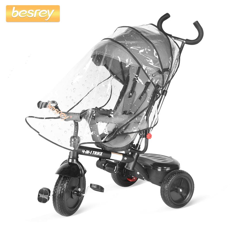 Besrey 4-in-1 Tricycle //Pushchair Kids Trike Child Bike Baby Ride-on